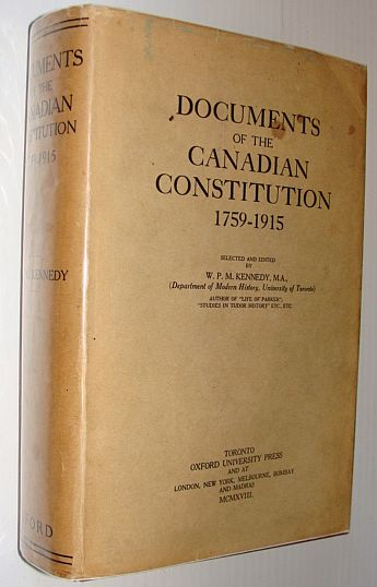 Image for Documents of the Canadian Constitution 1759-1915