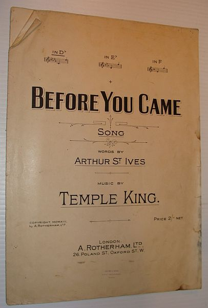 Image for Before You Came - Sheet Music