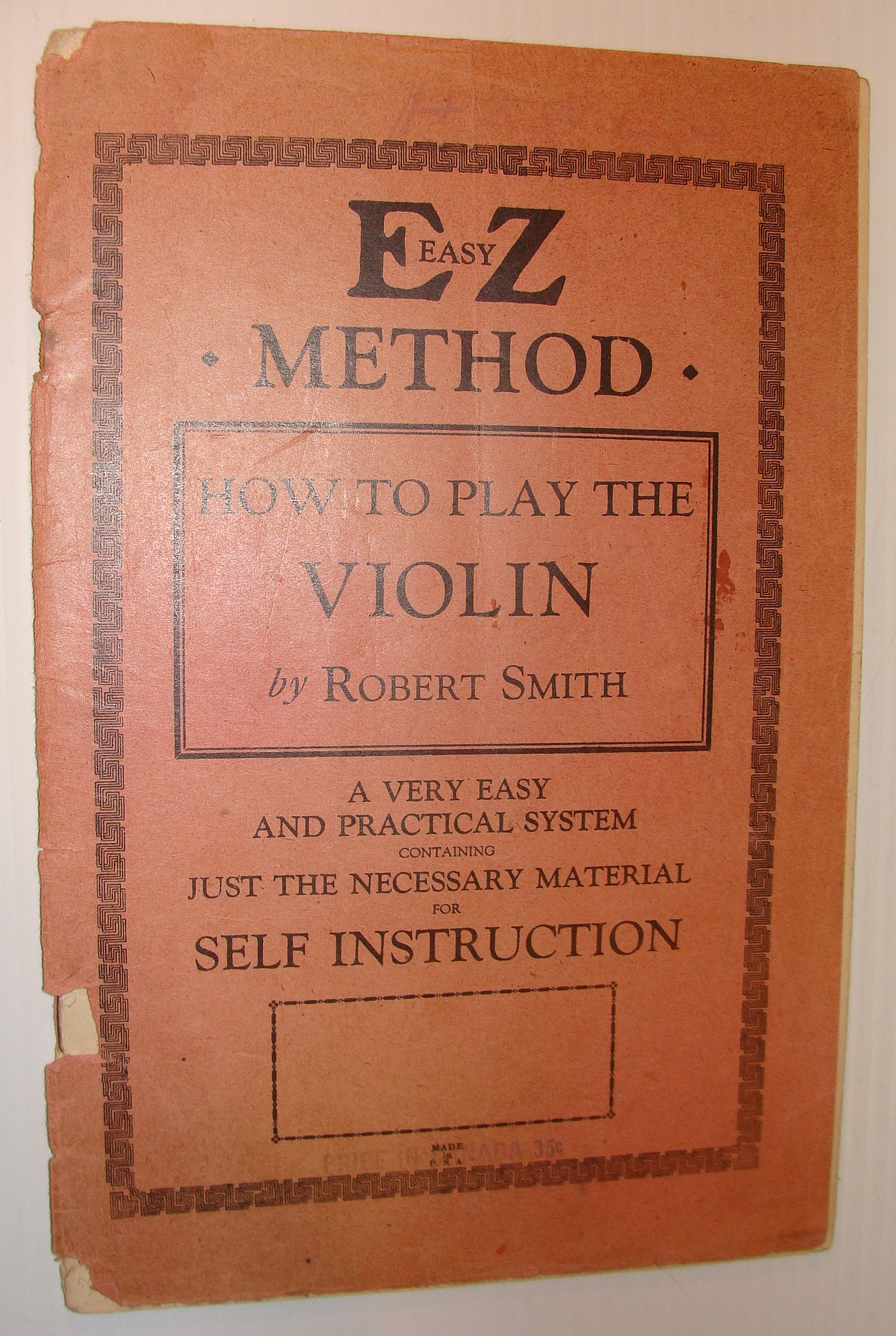 Image for How to Play the Violin - EZ (Easy) Method