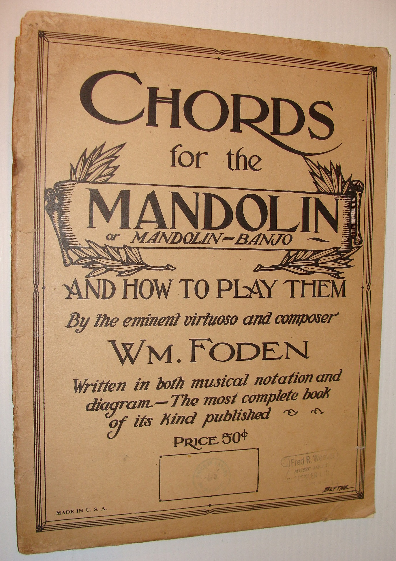Image for Chords for the Mandolin or Mandolin-Banjo and How to Play Them
