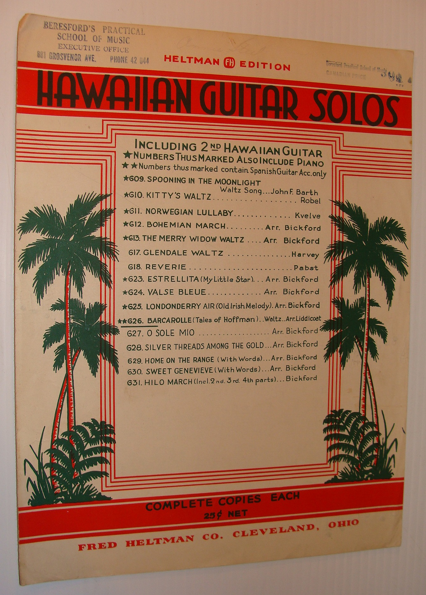 "Image for Barcarolle Waltz, from ""Tales of Hoffman"" - Sheet Music for Hawaiian Guitar Solo and Spanish Guitar Accompaniment"