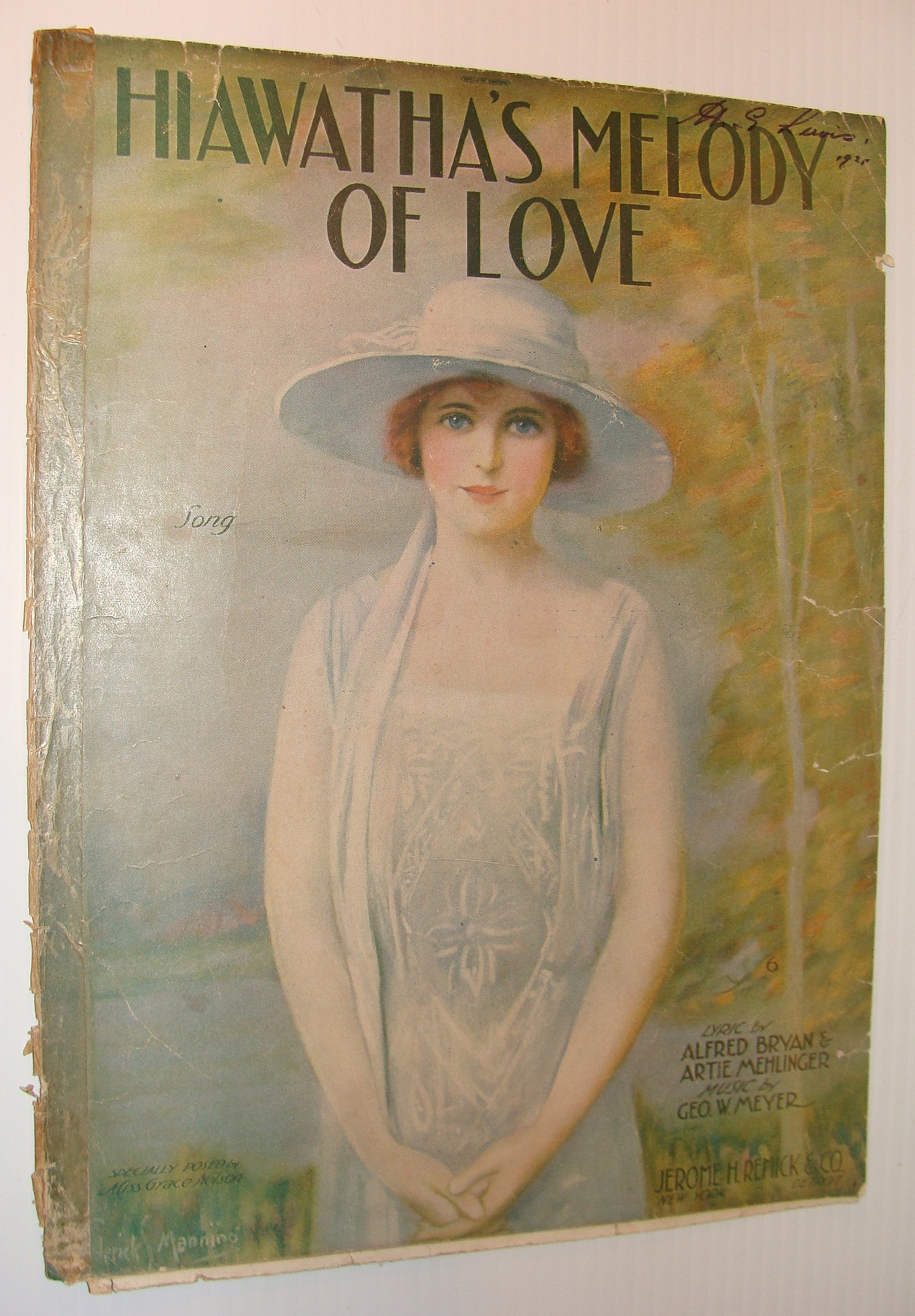 Hiawatha's Meloday of Love - Sheet Music, Bryan, Alfred; Mehlinger, Artie; Meyer, George W.
