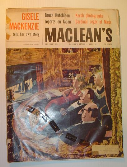 Maclean's Magazine, February 27, 1960 - Gisele Mackenzie/Bruce Hutchison on Japan/Karsh Photos, Multiple Contributors