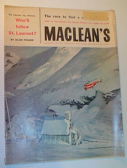 Maclean's Magazine, 15 August 1956, Multiple Contributors