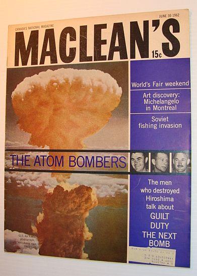 Maclean's Magazine, June 30, 1962, Multiple Contributors
