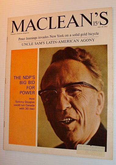 Maclean's Magazine, July 24, 1965 *COVER PHOTO OF TOMMY DOUGLAS*, Multiple Contributors