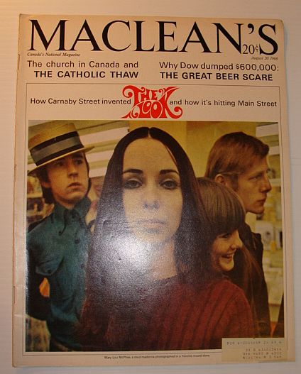 Maclean's Magazine, 20 August, 1966 *THE LOOK, AND HOW IT'S HITTING MAIN STREET*, Multiple Contributors