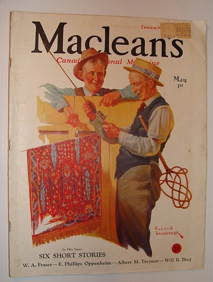 Maclean's - Canada's National Magazine, May 1, 1933 *THE ORIENTAL THREAT*, Multiple Contributors