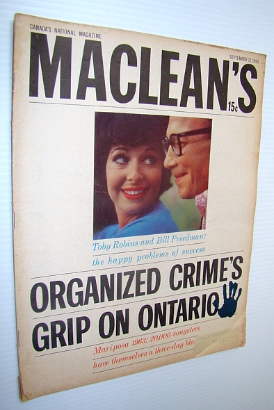 Image for Maclean's Magazine, September 21, 1963  - Organized Crime's Grip on Ontario