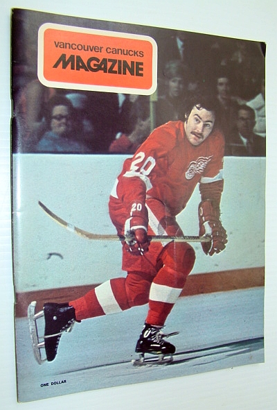 Image for Vancouver Canucks Magazine, October 26, 1973 - Great Colour Cover Photo of Mickey Redmond of the Detroit Red Wings