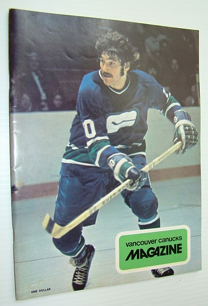 Image for Vancouver Canucks Magazine, January 15, 1974 - Colour Cover Photo of Dennis Ververgaert