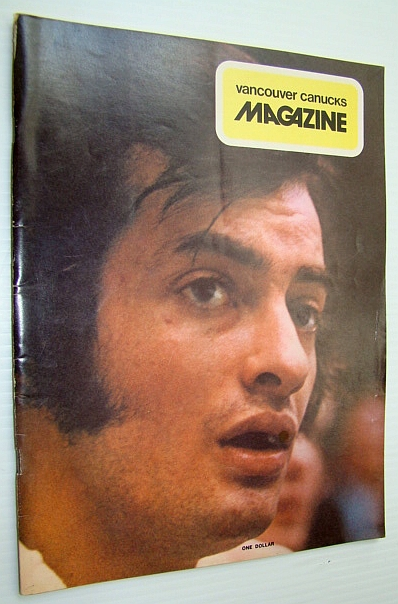 Image for Vancouver Canucks Magazine, March [Mar.] 26, 1974 - Colour Cover Photo of Paulin Bordeleau