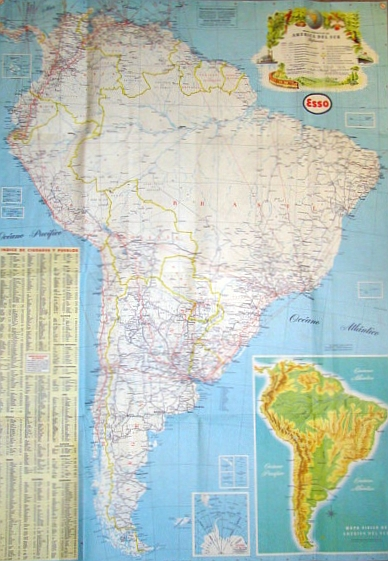 Image for Esso Guia Turistica De America Del Sur (Esso South American Road Map)