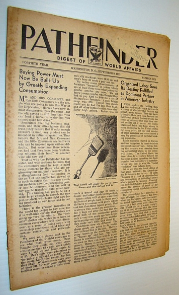 Image for Pathfinder Magazine - A Weekly Digest of World Affairs, September 9, 1933 - National Recovery Administration (NRA)