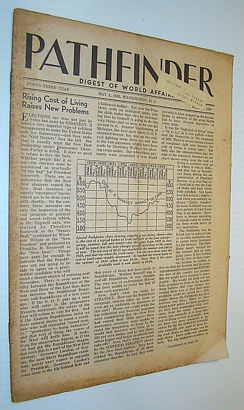 Pathfinder Magazine - A Weekly Digest of World Affairs From the Nation's Capital, May 2, 1936 - Rising Cost of Living Raises New Problems / Amelia Earhart, Multiple Contributors