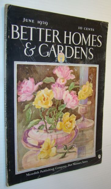 Better Homes and Gardens Magazine, June 1929 - Cartoonist J.N. (Ding) Darling in His Garden, Hankinson, Hazel; Doyle, Harry; Stupka, Arthur; Windsor, Roberta Earle; Sulzer, Marjorie N.; LeCron, Helen Cowles; et al