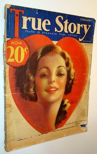 True Story Magazine, February 1933, MacFadden, Bernarr; Adams, Bristow; Manning, Mabel;