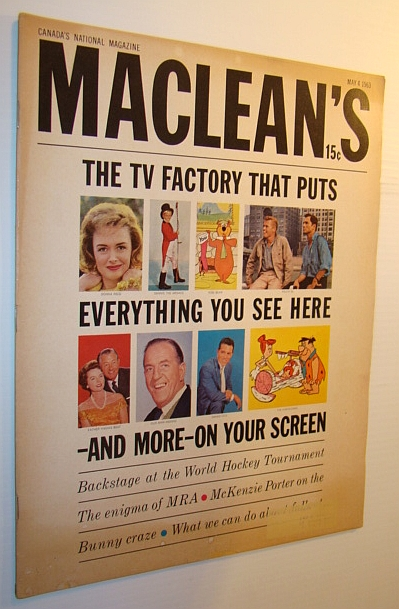 Image for Maclean's Magazine, May 4, 1963 - Screen Gems, The TV Programming Factory