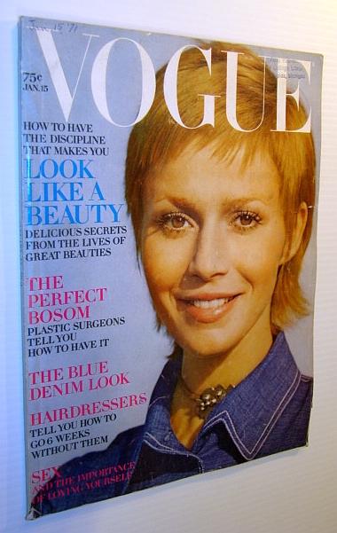 Image for Vogue Magazine (US) 15 January 1971 - Catherine Jourdan Cover Photo