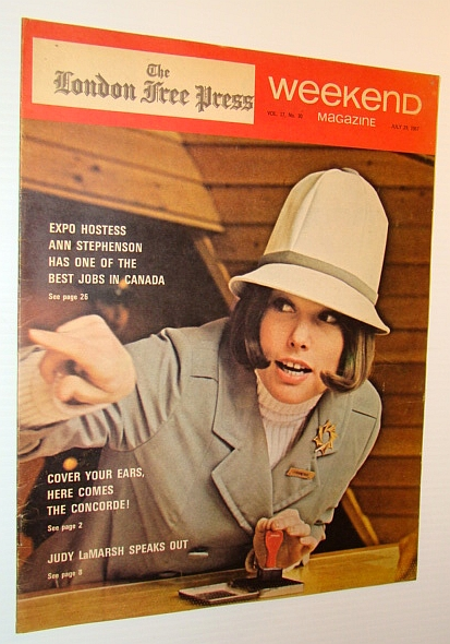 Image for Weekend Magazine, 29 July 1967 (Newspaper Insert) - Expo Hostess Ann Stephenson Cover Photo