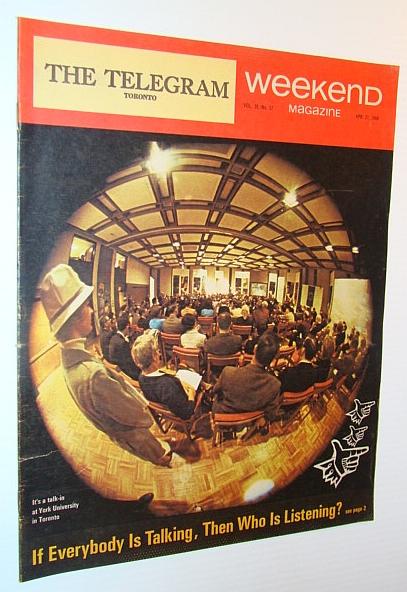 Weekend Magazine, 27 April 1968 - Talk-In at York University, Klyn, Doyle; Forbes, Jonathyn; McKeown, Robert; Marjoribanks, Robert