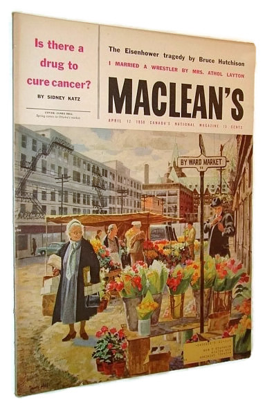 Image for Maclean's, Canada's National Magazine, 12 April. 1958 - By Ward Market Cover Illustration