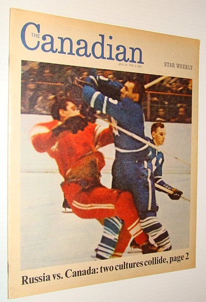 The Canadian/Star Weekly Magazine, 29 January - 5 February 1966: Russia Vs. Canada in Hockey / Harry Saltzman Got the James Bond Boom Going