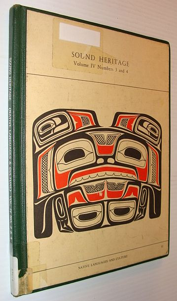 Image for Sound Heritage Volume IV Numbers 3 and 4 - Native Languages and Culture