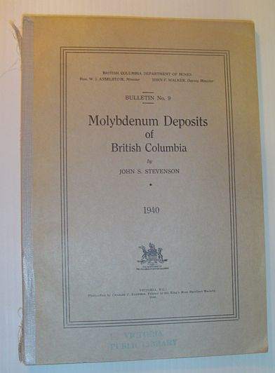 Image for Molybdenum Deposits of British Columbia: Bulletin No. 9