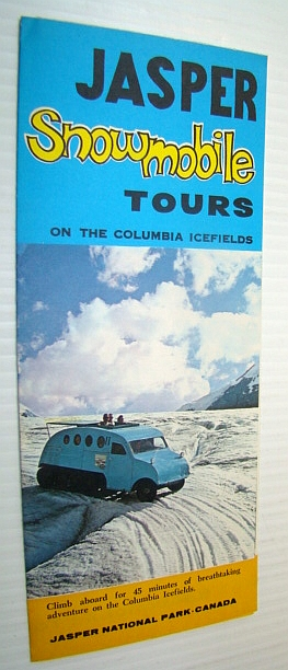 Image for Jasper Snowmobile Tours On the Columbia Icefields - Vintage Brochure
