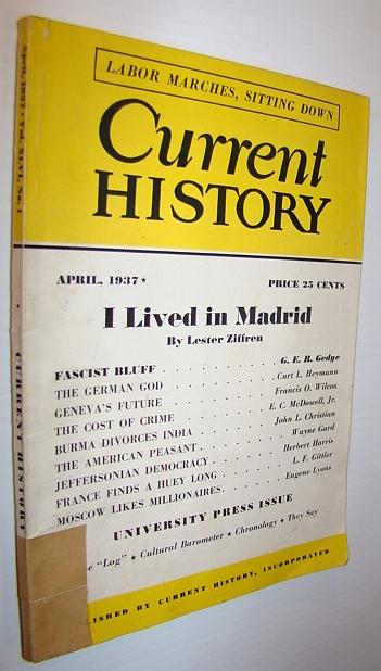 Current History Magazine, April 1937, Multiple Contributors
