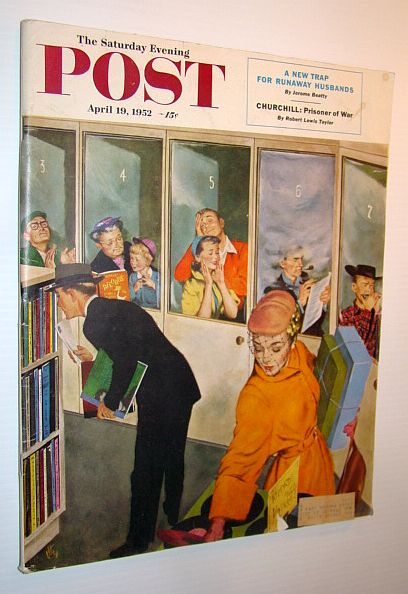 Image for The Saturday Evening Post, April 19, 1952 - The Amazing Mr. Churchill / The Man Who Sets Off Atom Bombs / Sardi's