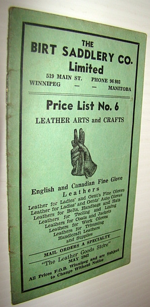 Image for The Birt Saddlery Co. Limited - Price List No. 6: Leather Arts and Crafts