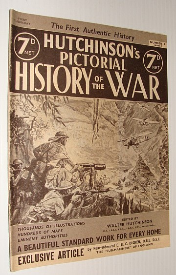 Hutchinson's Pictorial History of the War, Series 7, Number 3, August 21 - August 27, 1940, Hutchinson, Walter: Editor