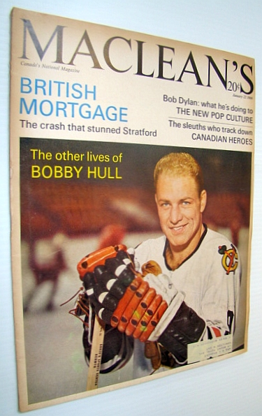Image for Maclean's - Canada's National Magazine, 22 Janaury 1966 - Bobby Hull Cover Photo