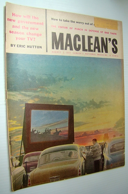 Image for Maclean's - Canada's National Magazine, August 3, 1957 - Montreal Artist Jean-Paul Riopelle