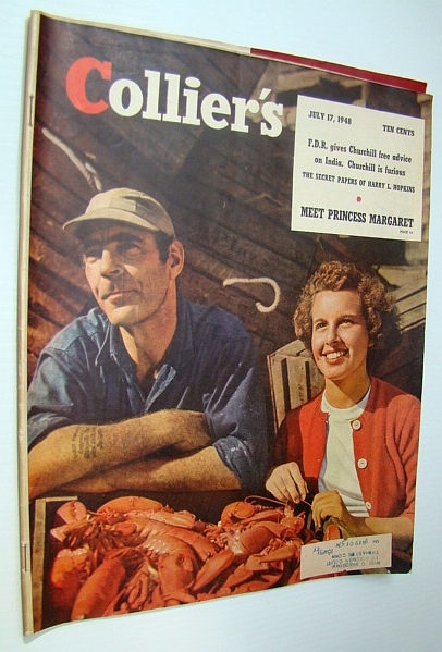 Collier's Magazine, July 17, 1948 - The American Express Company / Europes Hordes of Displaced Persons (DPs), Borg, Frederick; Cohen, Octavus, Roy; Taylor, Samuel W.; Haycox, Ernest; Chadwick William; Small, Collie; Harris, Eleanor; Sherwood, Robert E.; Courtney, W.B.; Gibbs, Rafe