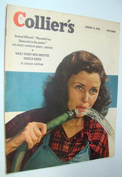 Collier's Magazine, August 14, 1948 - Fred Harman And Red Ryder / Italy Down for the Count, Doister, R.R.; Beggs, Russell; Lagard, Garald; Blochman, Lawrence G.; Frank, Pat; Brooke, Edgar; Whitman, Howard; Poling, James; Shane, Ted; Sherwood, Robert E.; Lagemann, John Kord;