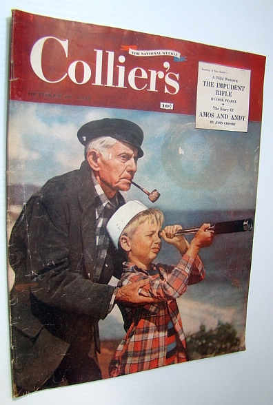 Collier's Magazine, October 16, 1948 - Joe Palooka and Me / Amos 'n' Andy, Gervasi, Frank; Davidson, Bill; Kefauver, Estes; Reynolds, Quentin; Crosby, John; Lees, Hannah; Josephs, Ray; gann, Ernest K.; Phillips, James Atlee; Simonds, James J.; Vale, Eden; Pearce, Dick; Caspary, Vera; Fisher, Ham