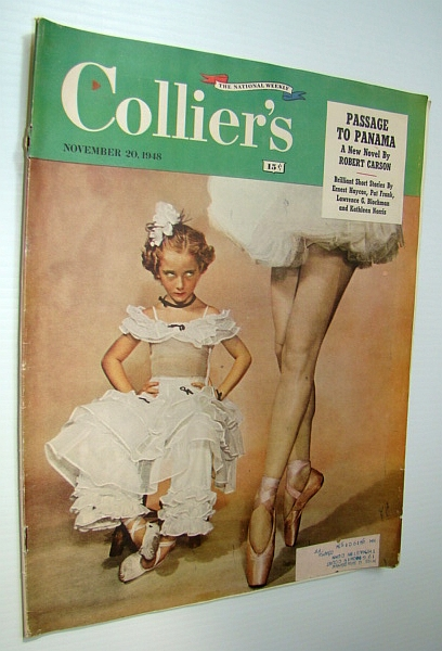 Collier's Magazine, November 30, 1948 - Lester A. Pratt is America's Foremost Bank-Fraud Expert / The Jimmy Doolittle Story, Budenz, Louis Francis; Rose, Billy; Dugan, James; Pratt, Lester A.; Courtney, W.B.; Norris, Kathleen; Haycox, Ernest; Blochman, Lawrence G.; Frank, Pat; Carson, Robert; Pearce, Dick