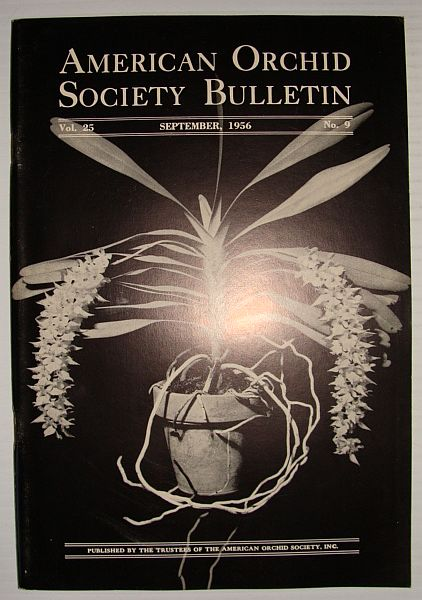 American Orchid Society Bulletin Vol. 25 September, 1956 No. 9, Dillon, Gordon W.: Editor