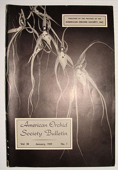 American Orchid Society Bulletin Vol. 28 January, 1959 No. 1, Dillon, Gordon W.: Editor