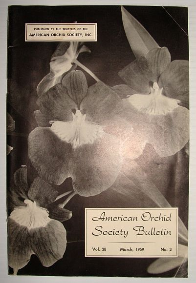 American Orchid Society Bulletin Vol. 28 March, 1959 No. 3, Dillon, Gordon W.: Editor