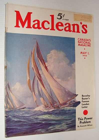 Maclean's Magazine, 1 May 1938 *FASCISM IN CANADA - PART 2 OF 2*, Multiple Contributors