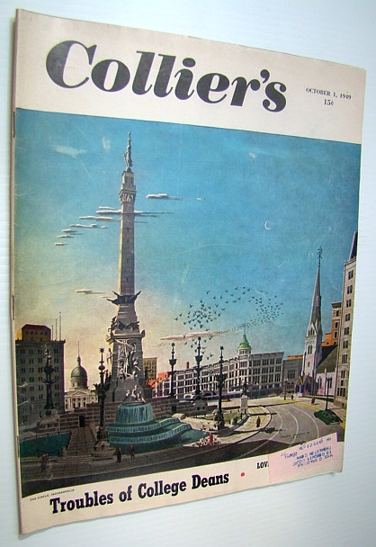 Collier's, The National Weekly Magazine, October 1, 1949 - Paul (Dreamboat) Douglas / Boater Bob Lane, Alexander, Holmes; Clark, Delbert; Ruark, Bob; Frank, Stanley; Frazier, George; Carter, Hodding; Wilson, Earl; Scott, William R.; Hawkins, John and Ward; Williams, Lawrence; Gardner, Erle Stanley; Snow, Enid Sims; Gilden, Bert K.