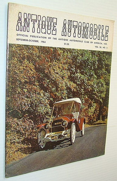 "Image for Antique Automobile Magazine - Official Publication of the Antique Automobile Club of America, Inc., September-October 1964 - 1909 Hudson ""Twenty"" Roadster Cover Photo"