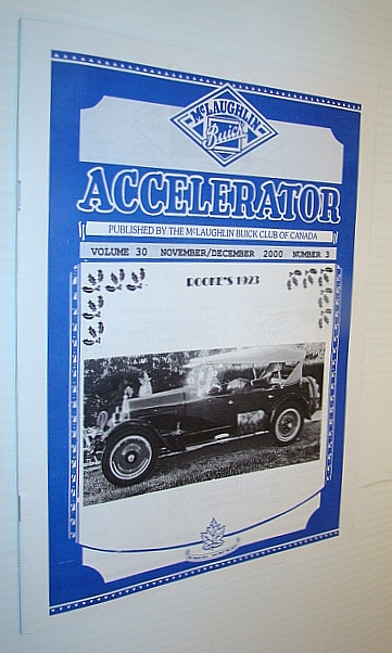 Image for Accelerator, November/December 2000, Volume 30, Number 3 - Publication of the McLaughlin Buick Club of Canada