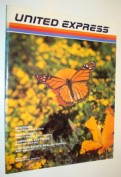 United Express (Airlines) Magazine, March 1988, Burnett, Bruce; Burress, Charles; Monahan, Anthony; Brooks, Karen Berger, Dan; Grotta, Daniel & Sally