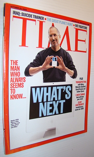 Image for Time Magazine, October 24, 2005 *Steve Jobs iPod and iMac Cover*
