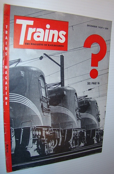 Image for Trains - The Magazine of Railroading, December 1954